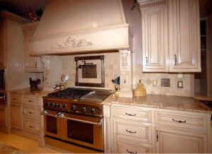 custom home kitchen stove
