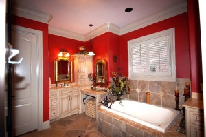 custom home master bath
